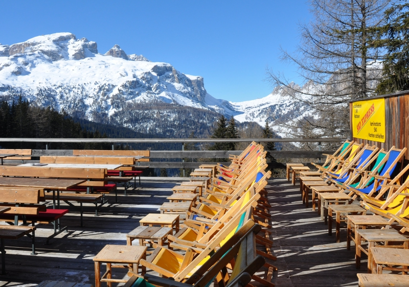 After a long lunch, some Alta Badia sun soaking is mandatory.