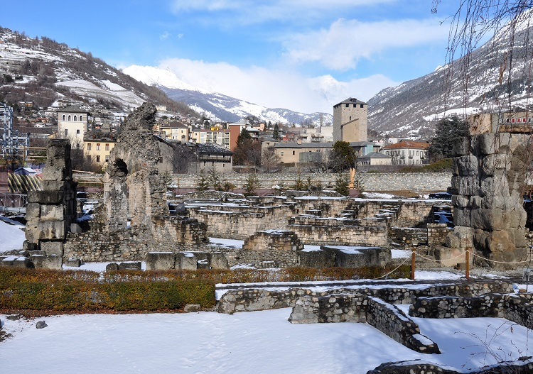 The history of Aosta is still visible in its Roman ruins.