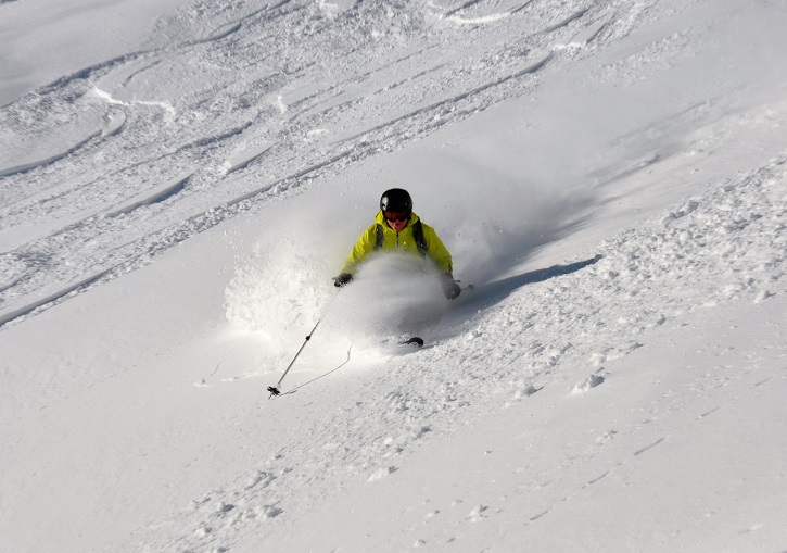 Ski powder near Aosta at La Thuile.