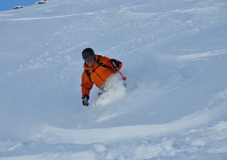 Powder skiing from Aosta is world class at Cervinia ski resort.