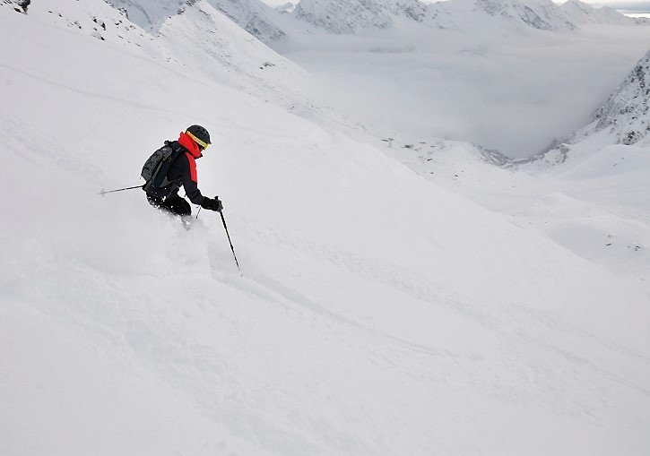 Freeride skiing at Monterosa is the best in the Aosta and Europe.
