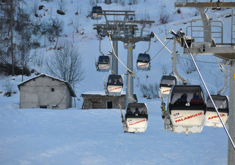 Aprica ski resorts lifts are old but move everyone efficiently.