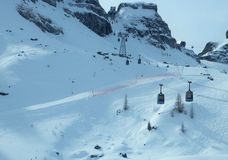 Arabba Marmolada has great terrain for all levels of skier.
