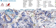 Arabba Marmolada Trail & Piste Map