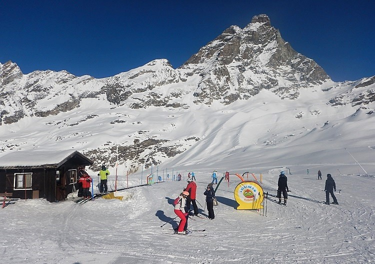 Cervinia has one the world's most spectacular learn to ski areas.