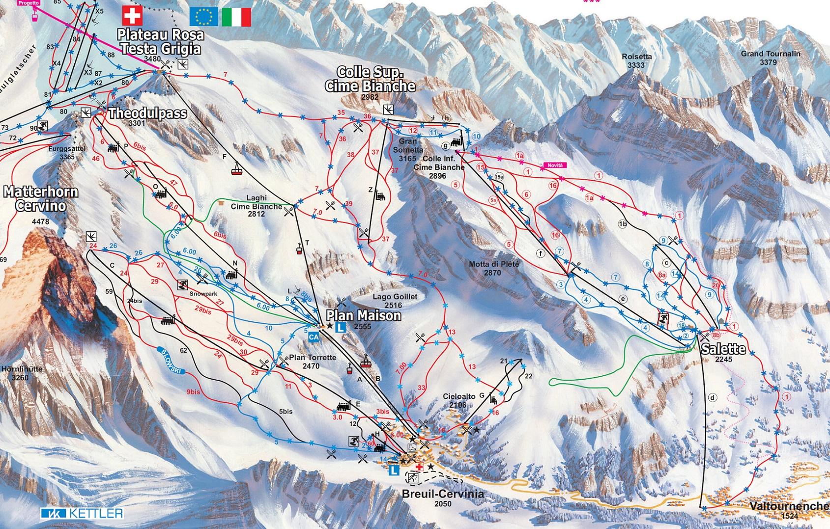 Cervinia Ski Resort Cervinia Italy Breuil Cervinia Valtournenche