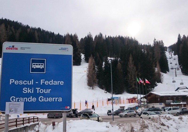 Civetta ski resort is a major link in the Great War Ski Route.