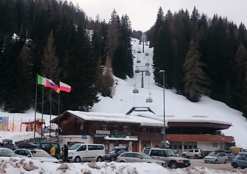 Pescul base area at Civetta ski resort.