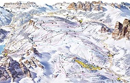 Civetta Ski Trail Map
