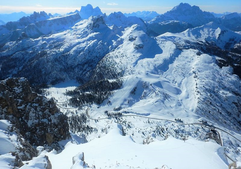 Cortina d'Ampezzo, legendary Dolomites ski resort.