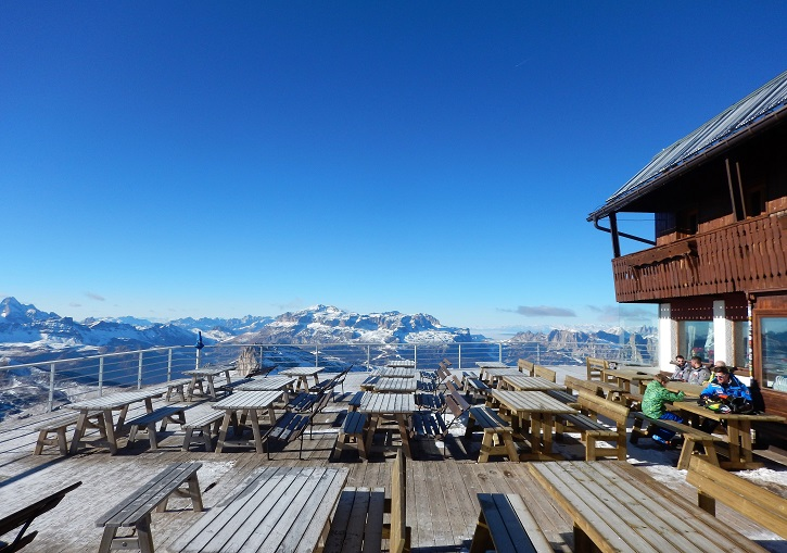 At 2800m, Rifugio Lagazuoi offers a wonderful spot for lunch.