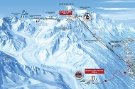 Vallee Blanche route map