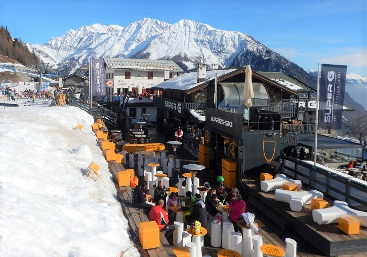 Apres ski at the Super G is a Courmayeur right of passage.