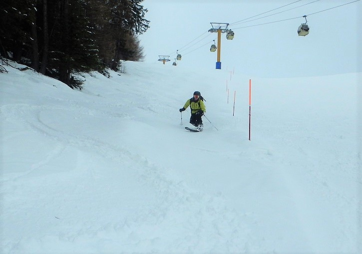 Freshies just off piste are always a bonus at Courmayeur ski resort