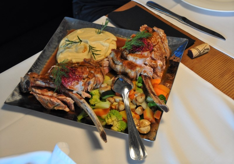 Dolomites food experience is exceptional. Alta Badia ski resort.