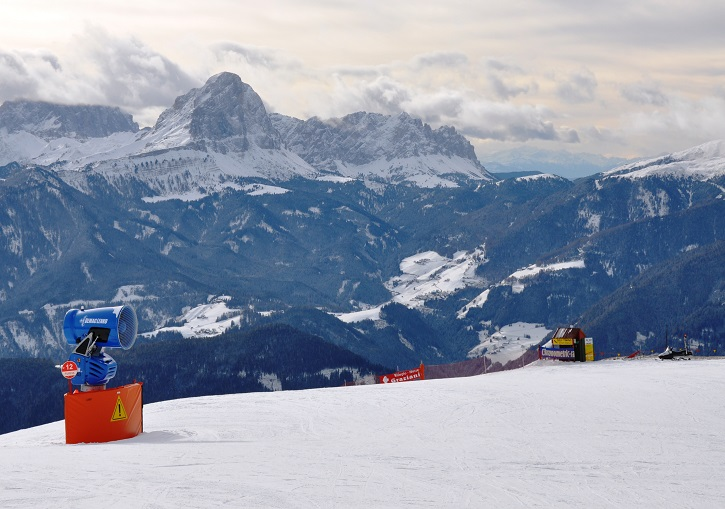 Kronplatz has 100% snow making coverage - world's best!