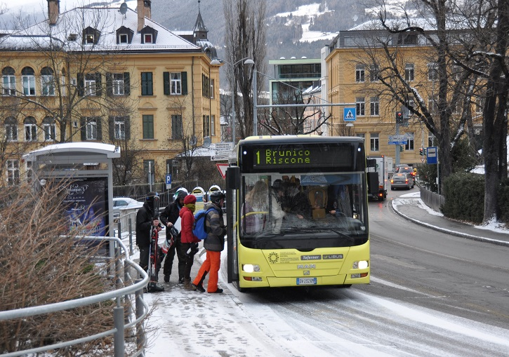 Easy bus links between nearby Brunico and Kronplatz ski resort.
