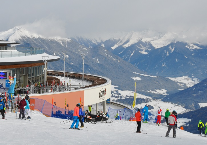 Kronplatz summit area has a wide range of shops, bars and restaurants.