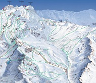 Alagna Monterosa Freeride Ski Route Map