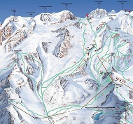 Gressoney Monterosa Freeride Ski Route Map