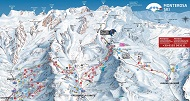 Alagna, Champoluc & Gressoney ski trail & piste map