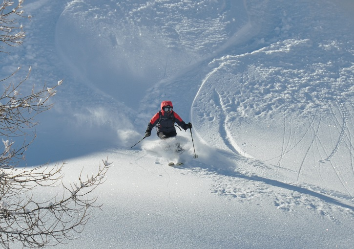 Sestriere powder skiing.
