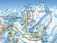 Sestriere Trail & Piste Map