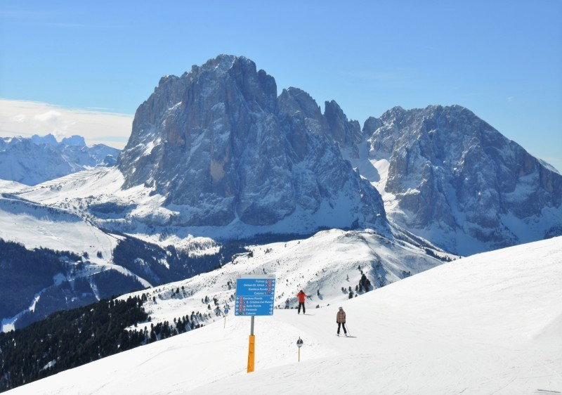 The Sella Ronda ski trails get very busy at Val Gardena.