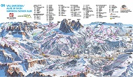 Val Gardena Trail & Piste Map