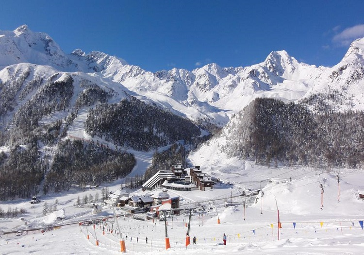Village of Kurzas (a.k.a. Maso Corto) at the base of Val Senales ski resort.