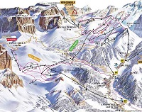 Canazei Ski Trail Map