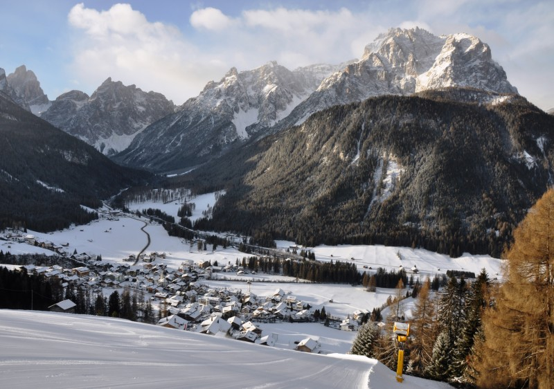 Gorgeous locations like Sesto in 3 Peaks Dolomites ski resort can be aamzing at Christmas time