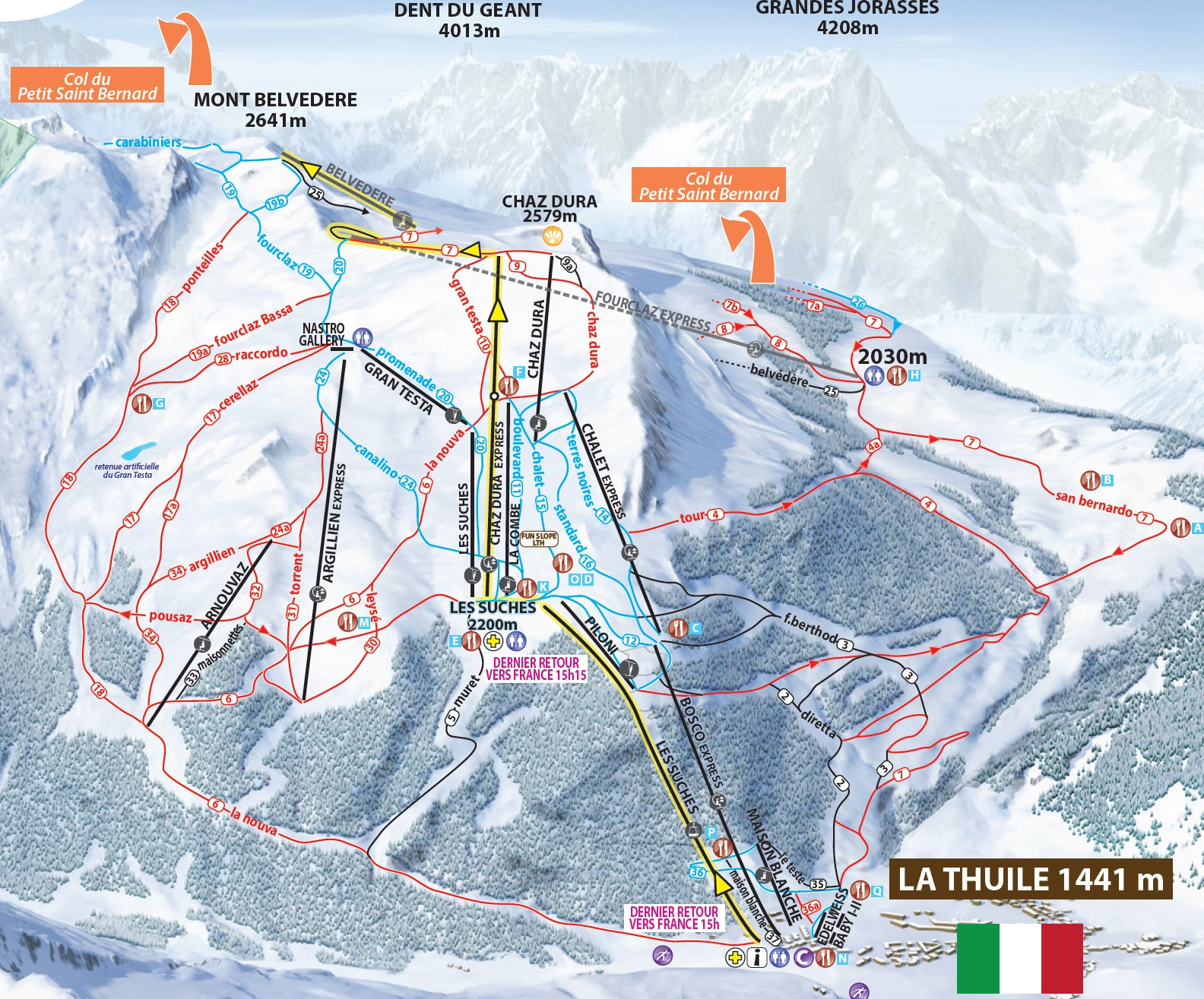 Skiing La Thuile La Thuile Ski Lifts Terrain Snow Maps Passes