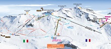 La Thuile North-side Ski Trail Map