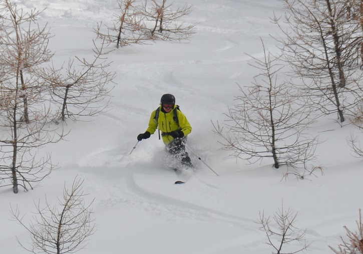 Powder is untracked for days at the Via Lattea ski resorts.