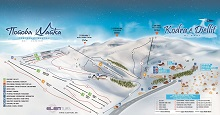 Popova Sapka Ski Trail Map