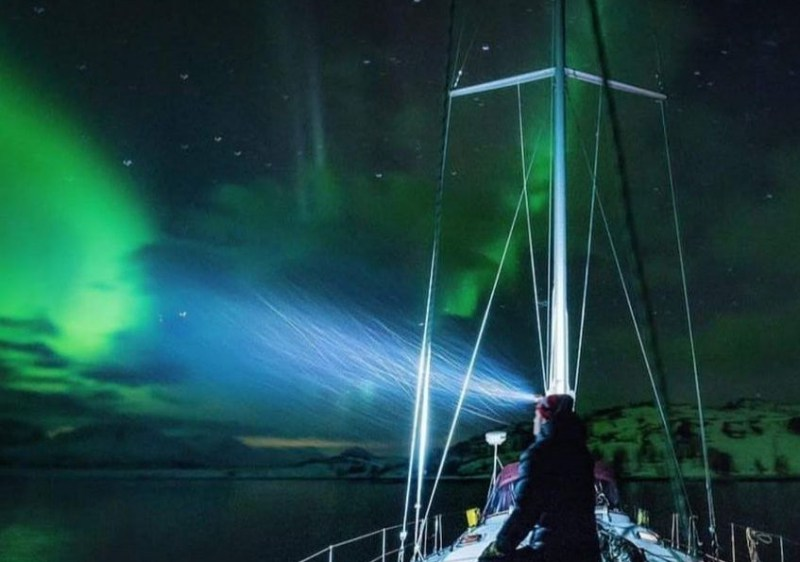 Northern Lights during Ski & Sail Tour (Photo - Sherpas Ride)
