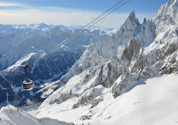 Ski Europe. Massive terrain, impressive lifts, great skiing. Courmayeur, Italy.