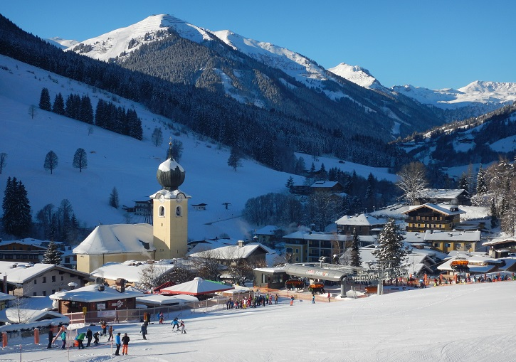 Ski Europe for wonderful villages. Saalbach, Austria.