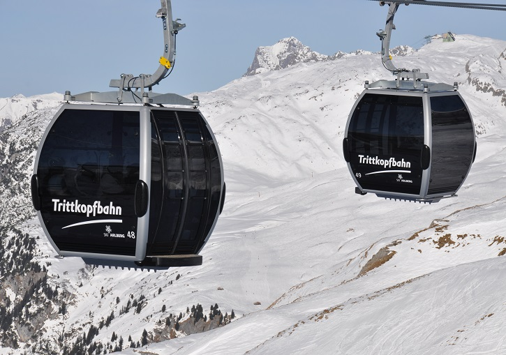 Ski Europe for the modern, efficient lifts. St Anton, Ski Arlberg, Austria.