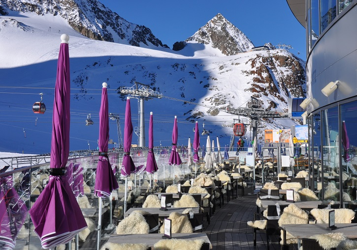 Ski Europe for exceptional resort facilties. Stubai Glacier, Austria.