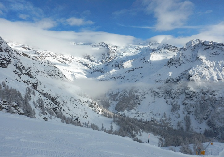 Ski Europe to ride some of the best mountains in the world. Monterosa, Italy.