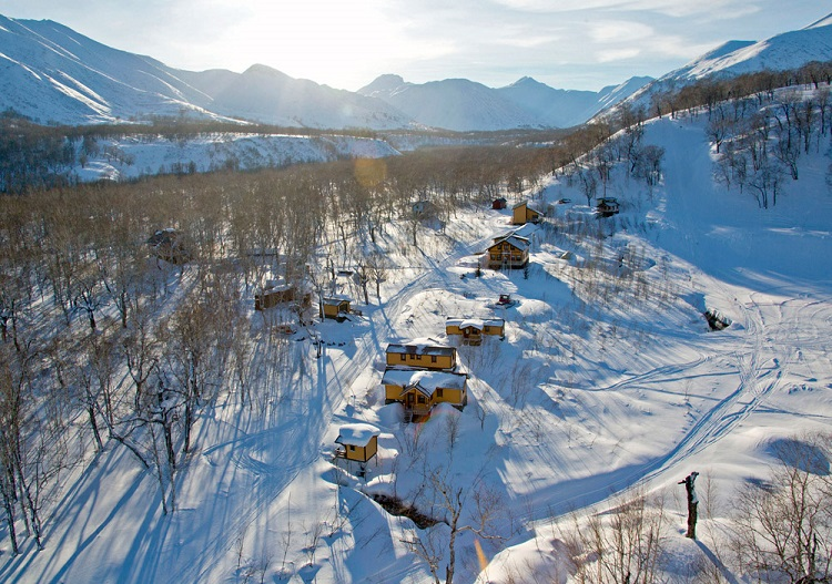 Snow Valley lodge, hotel and chalets, Kamchatka.