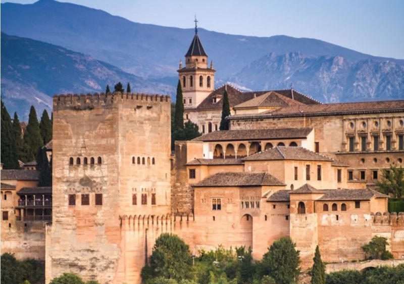 Visit the Alhambra in Granada when skiing at Sierra Nevada.