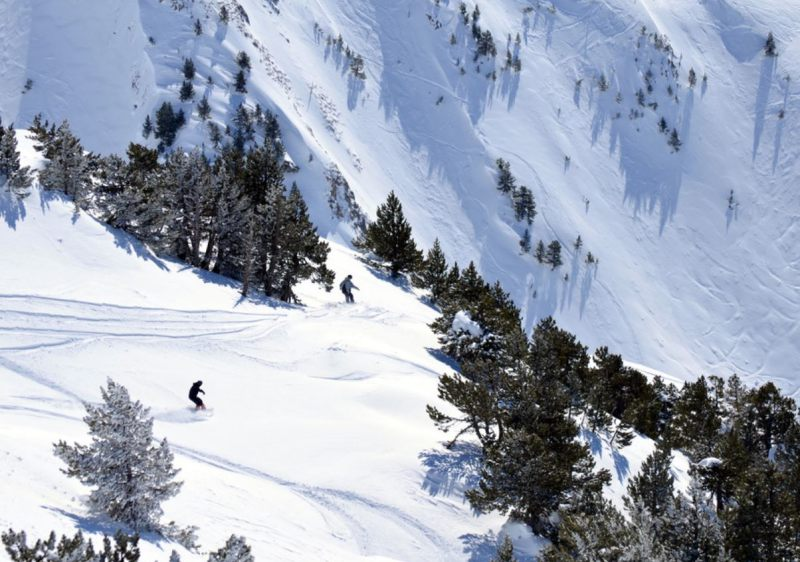 Enjoy off piste diversity at Baqueira Beret in the Spanish Pyrenees.