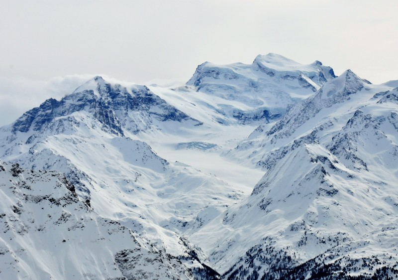 The surrounding mountains are full of freeride & heliski options - Grand Combin -