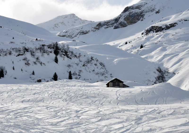 Bivio ski resort has excellent freeride powder skiing.