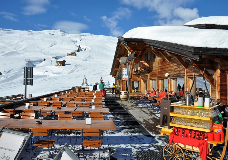 Alp Dado is Brigels main alpine centre for great food, drink and views.