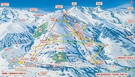 Brigels Ski Trail Map