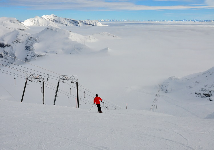 Laax ski resort, with its high glacier, is a short bus trip from Chur.